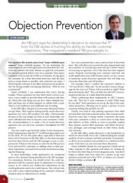 Objection Prevention – F&I and Showroom