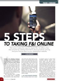 5 Steps to Taking F&I Online – F&I and Showroom