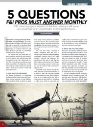5 Questions F&I Pros Must Answer Monthly