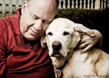 Michael Hingson and his guide dog